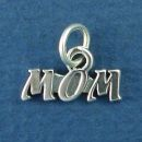 Mom Sterling Silver Word Phrase Charm Pendant