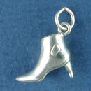 Ladies Short High Heel Boot 3D Sterling Silver Charm Pendant