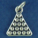 Billiard, Pool Rack and Balls Sterling Silver Charm Pendant