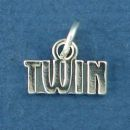 Twin Sterling Silver Word Phrase Family Charm Pendant