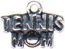 Tennis Mom Sports Sterling Silver Charm for Charm Bracelet