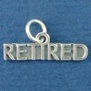 Retirement Charm Sterling Silver