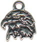Eagle Head Silhouette Sterling Silver Charm Pendant