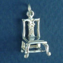 Chippendale Style Chair 3D Sterling Silver Charm Pendant