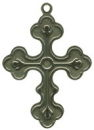 Cross with Southwest Design Sterling Silver Charm Pendant