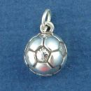 Soccer Ball Sports Sterling Silver Charm Pendant