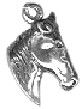 Horse Head Sterling Silver Charm Pendant