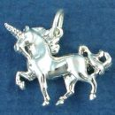 Unicorn Mythical Horse Creature 3D Sterling Silver Charm Pendant