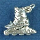 Rollerblade Inline Skate Large 3D Sterling Silver Charm Pendant
