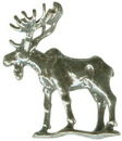Moose 3D Sterling Silver Charm Pendant