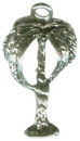 Palm Tree Sterling Silver Charm Pendant