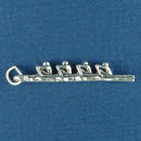 Sterling Silver Rowing Charm 3D for Sculling Team
