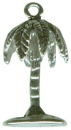Palm Tree 3D Sterling Silver Charm Pendant
