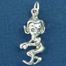 Leprechaun Charm Irish Sterling Silver Pendant