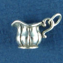 Creamer Dish for Coffee or Tea 3D Sterling Silver Charm Pendant
