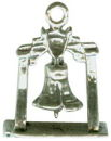 Tour: Liberty Bell 3D Sterling Silver Charm Pendant
