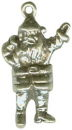 Christmas Santa Clause 3D Sterling Silver Charm Pendant
