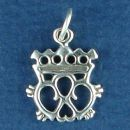 Celtic Symbol with Crown Design Sterling Silver Charm Pendant