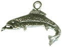 Fish: Trout Small 3D Sterling Silver Charm Pendant