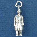 Bobby English Policeman 3D Sterling Silver Charm Pendant