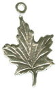 Maple Leaf  Sterling Silver Charm Pendant