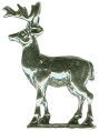 Deer Charm Stag with Antlers 3D Sterling Silver Pendant