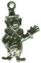 Clown 3D Sterling Silver Charm Pendant for Charm Bracelet