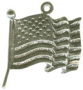 United States Flag Sterling Silver Charm Pendant