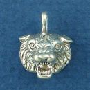 Bobcat Head a North American Wildcat, also Known as Bay Lynx Sterling Silver Charm Pendant