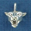 Cougar Head Sterling Silver Charm Pendant
