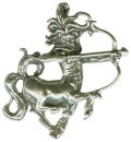 Astrology Zodiac Sign Charm Sagittarius 3D Sterling Silver Charm Pendant