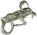 Astrology Zodiac Sign Charm Capricorn 3D Sterling Silver Charm Pendant