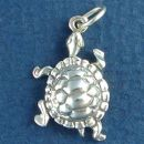 Turtle Charm Sterling Silver Pendant