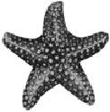 Starfish Large 3D Sterling Silver Charm Pendant