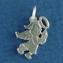 Angel Small Praying Sterling Silver Charm Pendant