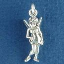 Fairy Pixie Type 3D Sterling Silver Charm Pendant
