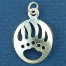 Bear Paw Charm Indian Design Medium Sterling Silver Indian Pendant