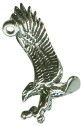 Eagle Swooping 3D Sterling Silver Charm Pendant