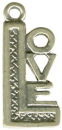 Love Word Phrase Sterling Silver Charm Pendant
