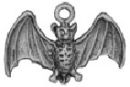 Halloween: Bat 3D Sterling Silver Charm Pendant