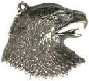 Eagle Head Sterling Silver Charm Pendant