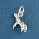 Eagle Claw Small 3D Sterling Silver Bird Charm Pendant