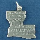 Map Charm and State Charm Sterling Silver Image