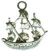 Ship Nautical 3D Sterling Silver Charm Pendant