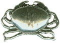 Crab 3D Sterling Silver Charm Pendant