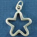 Star Cutout Design Sterling Silver Charm Pendant can be use as the Circle Half of Toggle