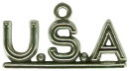 U.S.A. Sterling Silver Charm Pendant