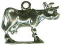 Cow Charm 3D Sterling Silver Pendant