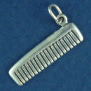 Hair Comb Charm Sterling Silver Pendant