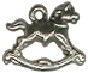 Rocking Horse 3D Toy Sterling Silver Charm Pendant